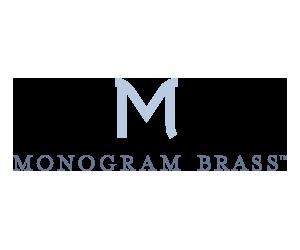 monogram brass
